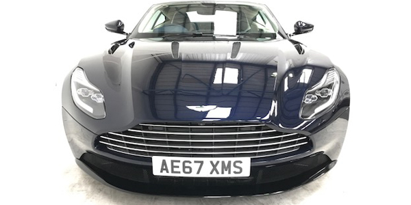 Photo of the Aston Martin DB11 from the front