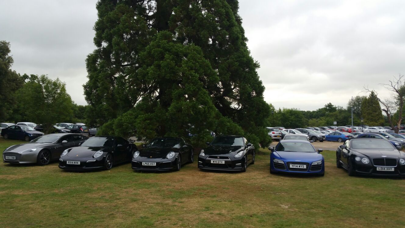 luxury car hire at the supercar event