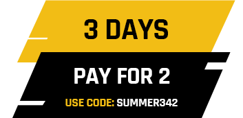 3 days hire for the price of 2. Use code SUMMER342